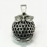 Retro Halloween <b>Jewelry</b> Findings <b>Antique</b> Silver Owl 316 Stainless Steel Pendants, 32x23x14mm, Hole: 9x5mm