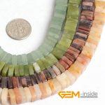 3X8MM Heishi Square Shape Natural Stone Beads For <b>Jewelry</b> <b>Making</b> Beads: Picasso Jaspers Aventurine Nephrite Jades Strand 15 Inch
