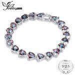 JewelryPalace 26ct Triangle Stone Genuine Rainbow Fire Mystic Topaz Solid 925 Sterling <b>Silver</b> Tennis <b>Bracelet</b> Fashion Jewelry