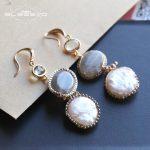GLSEEVO Natural Fresh Water Baroque White Pearl Long Drop Earrings For Women Dance Wedding Earrings Luxury Fine <b>Jewelry</b> GE0405