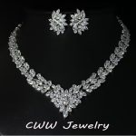 CWWZircons Super Luxury Bridal CZ <b>Jewelry</b> White Gold Color African Wedding Cubic Zirconia Beads <b>Jewelry</b> Sets For Brides T146
