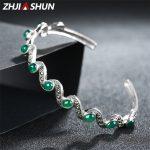 ZHJIASHUN 925 Sterling <b>Silver</b> Cuff <b>Bracelets</b> For Women Thai <b>Silver</b> Bangles & <b>Bracelets</b> Chalcedony Handmade Find Jewelry