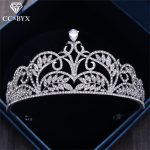 CC Crowns Tiaras Queen Crown Luxury Baroque Style Crystal Water Drop <b>Wedding</b> Hair Accessories For Bride Engagement <b>Jewelry</b> XY019