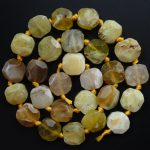 Free Shipping!!! 1 strand(Approx:27Pcs)Natural Faceted Yellow Zoisite Loose Bead 15.5 inch M163 For <b>Jewelry</b> <b>Making</b>