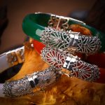 925 <b>sterling</b> <b>silver</b> <b>jewelry</b> carved trim President Royal bracelet