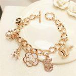 S106 Number 5 luxury brand designer jewellery tassels flowers 2017 <b>jewelry</b> bracelets & bangles kpop jewlery for women
