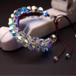 Original <b>handmade</b> Austrian crystal Korean valentine's day bracelet lady's multi-layer sweet birthday gift student <b>jewelry</b>