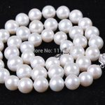 Wholesale cheap high quality new 8-9mm White natural Pearl Necklace AAA woman Fashion <b>Jewelry</b> <b>Making</b> Design Christmas gift W0046