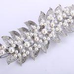 Bella Fashion Luxury Leaf <b>Wedding</b> Bridal Hair Comb Headpiece Austrian Crystal Simulated Pearl Hair Comb For Party <b>Jewelry</b> Gift