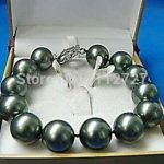 """Big! 14 mm Black Sea In the shape of a shell pearl bracelet Beads For women Fashionable <b>jewelry</b> <b>making</b> Design natural stone 8 """""""