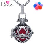 <b>Antique</b> Silver Hollow Heart Love Locket Box Pendant Fragrance Essential Oil Aromatherapy Diffuser Necklace <b>Jewelry</b> 7pcs Pompons