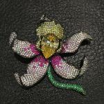 925 <b>sterling</b> <b>silver</b> wich cubic zircon flower brooch pins Orchid Brooch Romantic Fashion women <b>jewelry</b> for coat or dress
