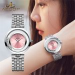 AESOP <b>Silver</b> Watch Women Quartz Watches Ladies Top Brand Luxury Female Wrist Watch Girl Diamond Clock Relogio Feminino 2018