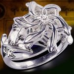 Fine <b>Jewelry</b> Women 100% Real 925 Soild Sterling Silver rings LOTR The Galadriel Nenya Zircon Ennagement <b>Wedding</b> Band Ring