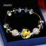 SINZRY <b>jewelry</b> <b>handmade</b> Charm Bracelets Luxury imported glass crystal DIY round bracelets statement <b>jewelry</b>
