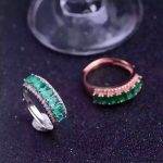 Natural green emerald Ring Natural gemstone ring 925 <b>sterling</b> <b>silver</b> trendy Elegant Luxury arrangement women party gift <b>Jewelry</b>