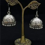 India Tribal Cage Earrings of The Middle East. <b>Handmade</b> Ancient Silver BOHO Hippie <b>Jewelry</b> Pakistan Morocco Turkey Thailand