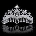 2016 <b>Fashion</b> Wedding Tiaras Long Rhinestone Drop Tassel Crowns Crystal Bridal Hair <b>Jewelry</b> Wedding Hair Accessories Bride Party