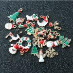 Beautiful 19PCS Mixed Christmas Hanging Ornaments DIY <b>Jewellery</b> Pendants Xmas Christmas Tree <b>Decoration</b> Festival Holiday Decor