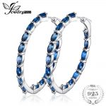 JewelryPalace Huge 13.5ct Natural Londun Blue Topazs Hoop Earrings 925 <b>Sterling</b> <b>Silver</b> Fine <b>Jewelry</b> For Women 2018 Luxury Design