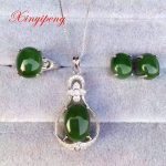 925 <b>silver</b> and rose gold or platinum plated Mosaic 100% natural jasper jewelry suit Ms. Ring necklace pendant <b>earrings</b>