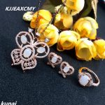 KJJEAXCMY Fine jewelry, Multicolored jewelry inlaid natural white jade 925 <b>silver</b> female models set simple wholesale