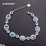 KJJEAXCMY Fine jewelry The new female <b>Bracelet</b> 925 sterling <b>silver</b> inlaid natural Topaz Peridot garnet