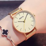 womens fashion wristwatches quartz stainless steel ladies watches gold black <b>silver</b> GIMTO brand waterproof casual woman clocks