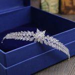 Full Snowflower Zircon Tiara Bride Crown Diadem Mariage Wedding Hair Accessories Bride <b>Jewelry</b> Bijoux Cheveux Tocados Para Novia