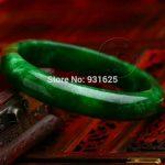 Natural Dark Green Bangle Green Woman's Bracelet <b>Handmade</b> Fashion <b>Jewelry</b> Gift Bangles +certificate 58-62mm