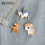 OMENG 2017 Fashion Enamel Pin for Woman Brooch Pin Button Jeans Bag <b>Decoration</b> Gift <b>Jewellery</b> Gifts OXZ009