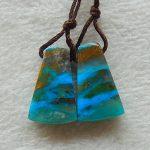 Natural blue opal <b>fashion</b> Semi-precious stones, <b>Jewelry</b> accessories woman Earrings Beads,20x12x4mm,2.9g