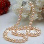 Beautiful 8-9mm natural pink akoya natural pearl beads diy classical necklace <b>making</b> 18 inch MY4554