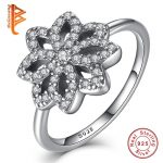 Wedding Engagement <b>Jewelry</b> Sterling Silver Rings Female Flower CZ Rings For Women <b>Accessories</b>