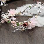 CC Crowns Tiaras Hairbands Galand Wedding Hair Accessories For Bride Fairy Romantic Bridal Crown <b>Jewelry</b> Flowers <b>Handmade</b> SG540