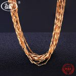WK 1MM 5 10 20 50 100 PCS 925 Sterling <b>Silver</b> Golden Chain <b>Necklace</b> Women Chains With Lobster Clasp Wholesale Jewelry Lot NA050