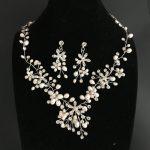 Gorgeous Rhinestones Austrian Crystal Freshwater Pearls Wedding <b>Jewelry</b> Set Bridal <b>Necklace</b> Earring Set Part <b>Jewelry</b> Bridesmaids