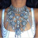 Dvacaman New Arrival 2017 Long Tassel Body Chain Necklace Beach Bikini Crystal Body <b>Jewelry</b> <b>Handmade</b> DIY Shoulder Necklace X44