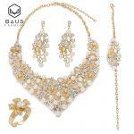 BAUS 2018 Dubai Gold Color earrings <b>Jewelry</b> Sets Design Nigerian bridal <b>jewelry</b> sets Fashion african beads <b>jewelry</b> set Wholesale
