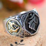 <b>Handmade</b> Thai 925 Silver Tibetan Symbol Ring Thailand Sterling Silver Buddhist Ring Man Ring <b>Jewelry</b> Gift