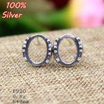 100% 925 Sterling Silver <b>Jewelry</b> Blank Stud Earrings Fit 10*12mm <b>Antique</b> Silver Base Tray for Diy Earrings