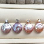 10PCS 925 Sterling <b>Silver</b> Necklace Jewelry 12-14mm Freshwater Baroque Coin Pearl Ear Pendant <b>Earrings</b> for Women Free Shipping