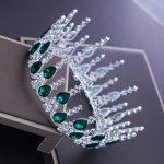 High-grade bride crown round ring round rhinestone crown <b>wedding</b> headdress <b>wedding</b> <b>jewelry</b> <b>wedding</b> accessories female HD381