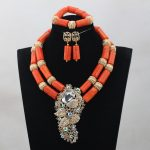African Wedding Bridal Top Purple Orange Coral Beads <b>Jewelry</b> sets Nigerian Women Beads <b>Necklace</b> <b>Jewelry</b> Sets Free ShippingABH190
