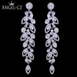 ANEGLCZ Statement Korean CZ <b>Jewelry</b> Elegant Marquise AAA Cubic Zirconia Super Long Drop Bridal Wedding Earrings For Women AE184