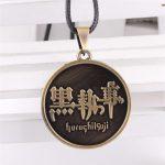 New arrival cosplay <b>jewelry</b> Kuroshitsuji <b>Antique</b> bronze black Butler pendant anime cartoon alloy necklace Christmas gift