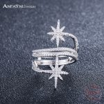 ANFASNI 100% 925 Sterling Silver Star Meteor Rings For Women Finger Ring Famous Original <b>Jewelry</b> Fine <b>Jewelry</b> Free Shipping