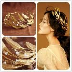 Vintage Baroque crown Bridal headband <b>Wedding</b> hair accessories golden leaf tiara gold <b>jewelry</b> vintage crowns and tiaras