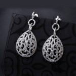 New Dangle earrings Luxury <b>Wedding</b> Fashion <b>jewelry</b> Micro Pave setting CZ stone Ladies Friend Gift zircon CZ drop earring