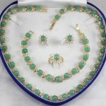 Prett Lovely Women's Wedding Natural gem Gift Necklaces Bracelets Earring <b>Jewelry</b> Sets +Box01 5.23 silver-<b>jewelry</b> brincos